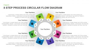 8 Step Circular Process Flow Diagram Template for PowerPoint & Keynote