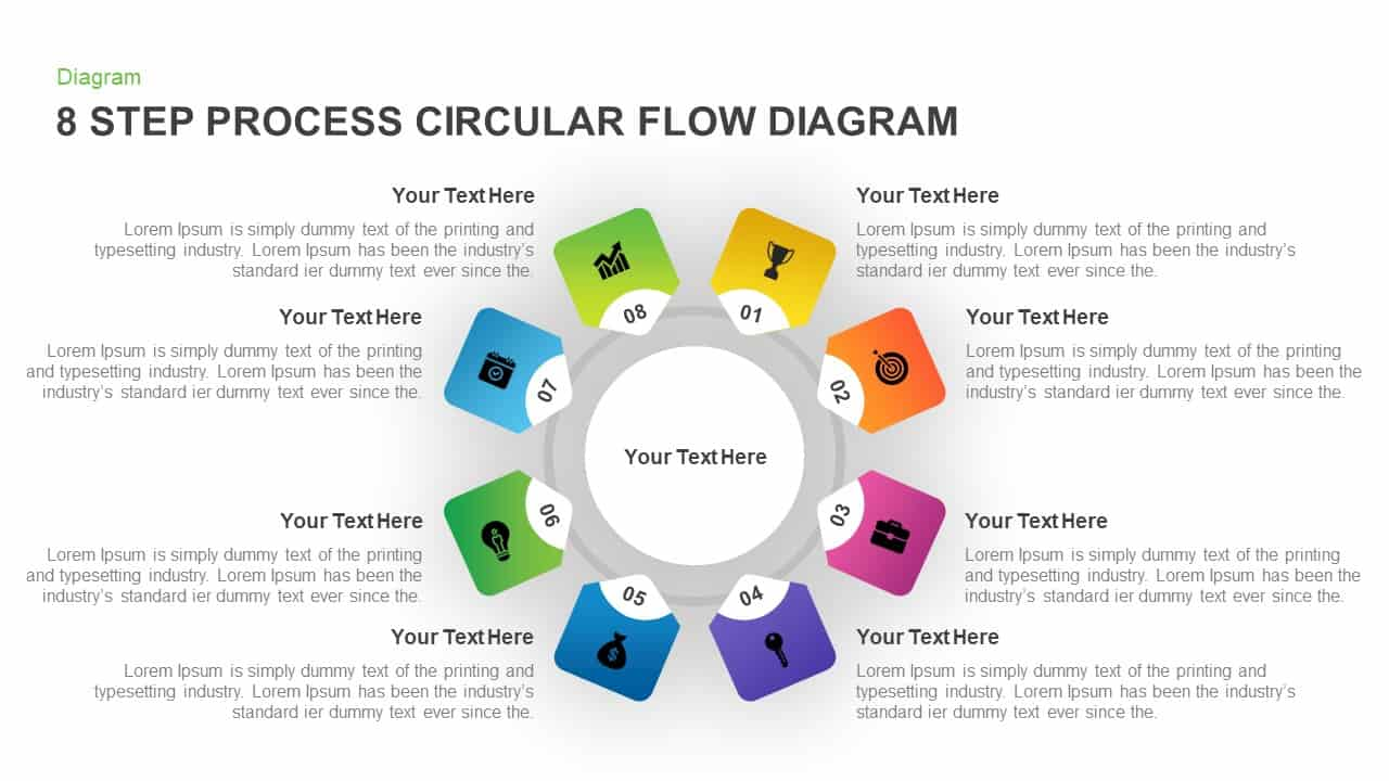 Circular Process Flow Diagram PowerPoint Template