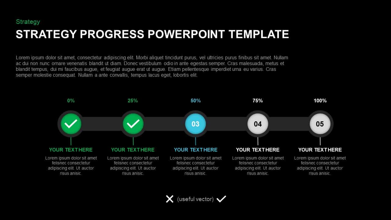 Strategy Progress Template for PowerPoint