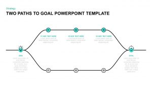 Two Paths to Goal Template for PowerPoint & Keynote