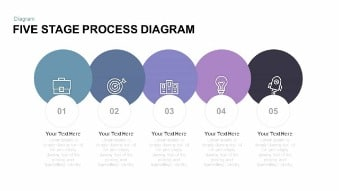 Five Stage Process Diagram Free Google Slides Theme