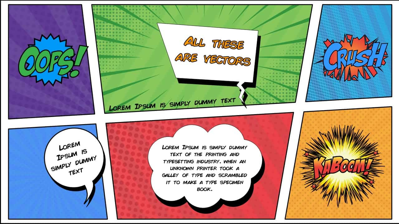 free comic book PowerPoint template