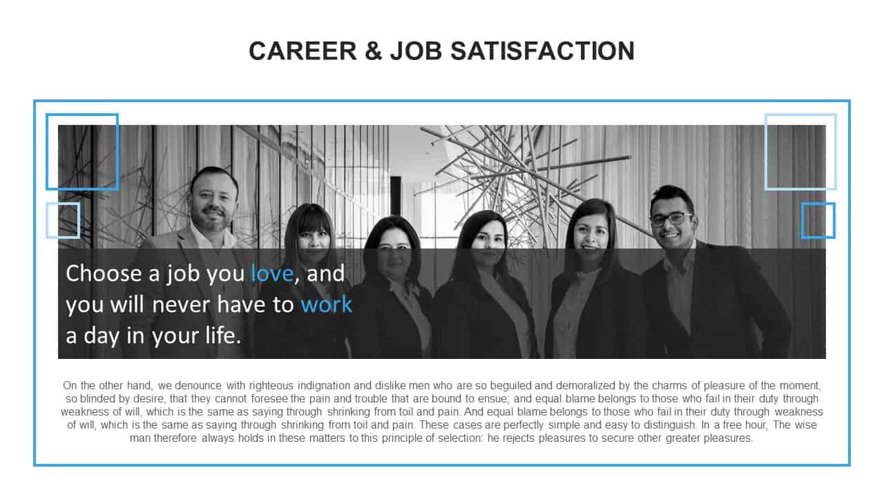 Career Job Satisfaction PowerPoint Template