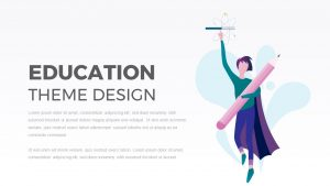 Education Animated Cartoon Template for PowerPoint Presentation