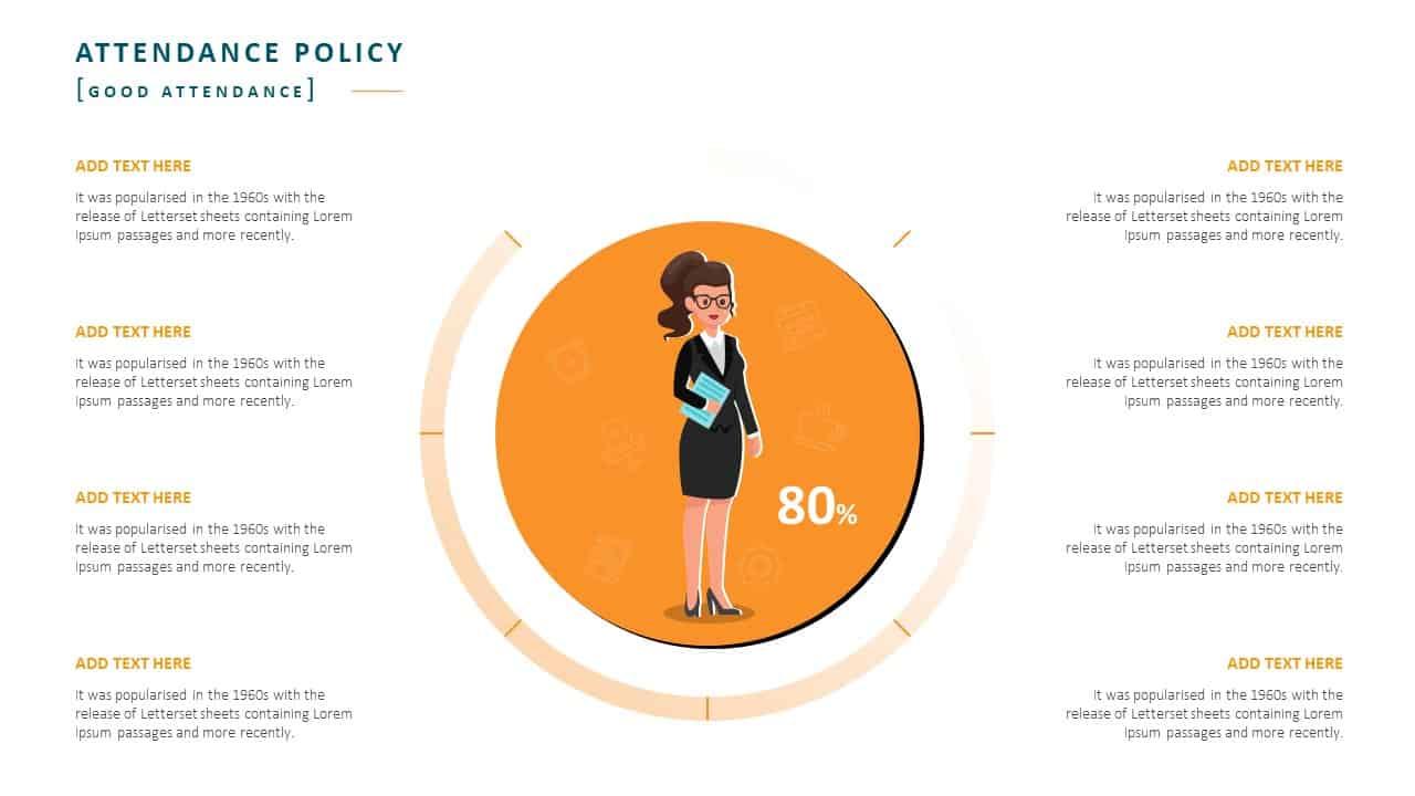 Employee Handbook PowerPoint Template Slide 11 Attendance Policy Good Attendance