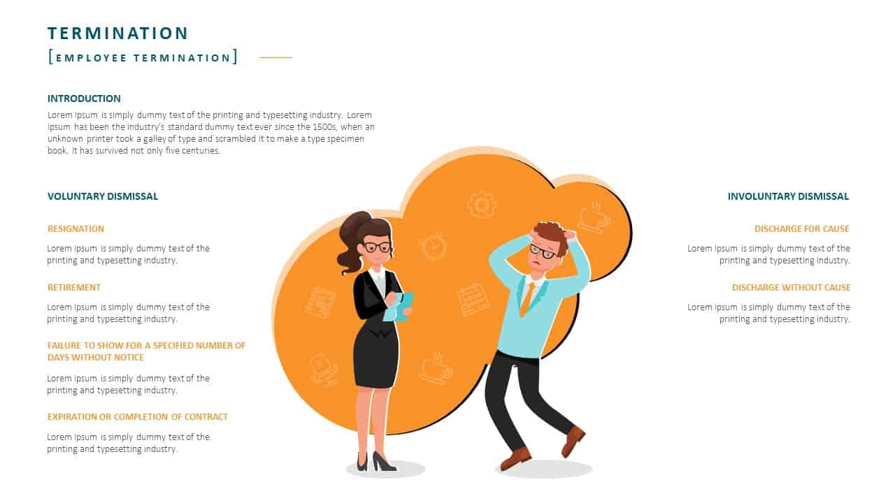 Employee Handbook PowerPoint Template Slide 19 Employee Termination