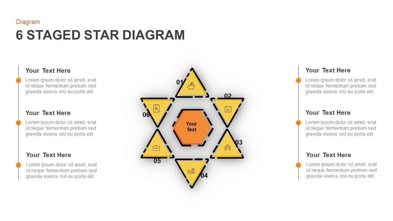 Star Diagram For Business Target And Analysis PowerPoint Presentation