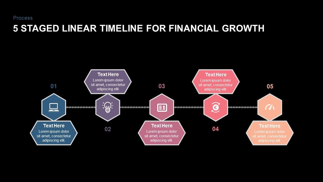 5 Staged Linear Timeline Diagram