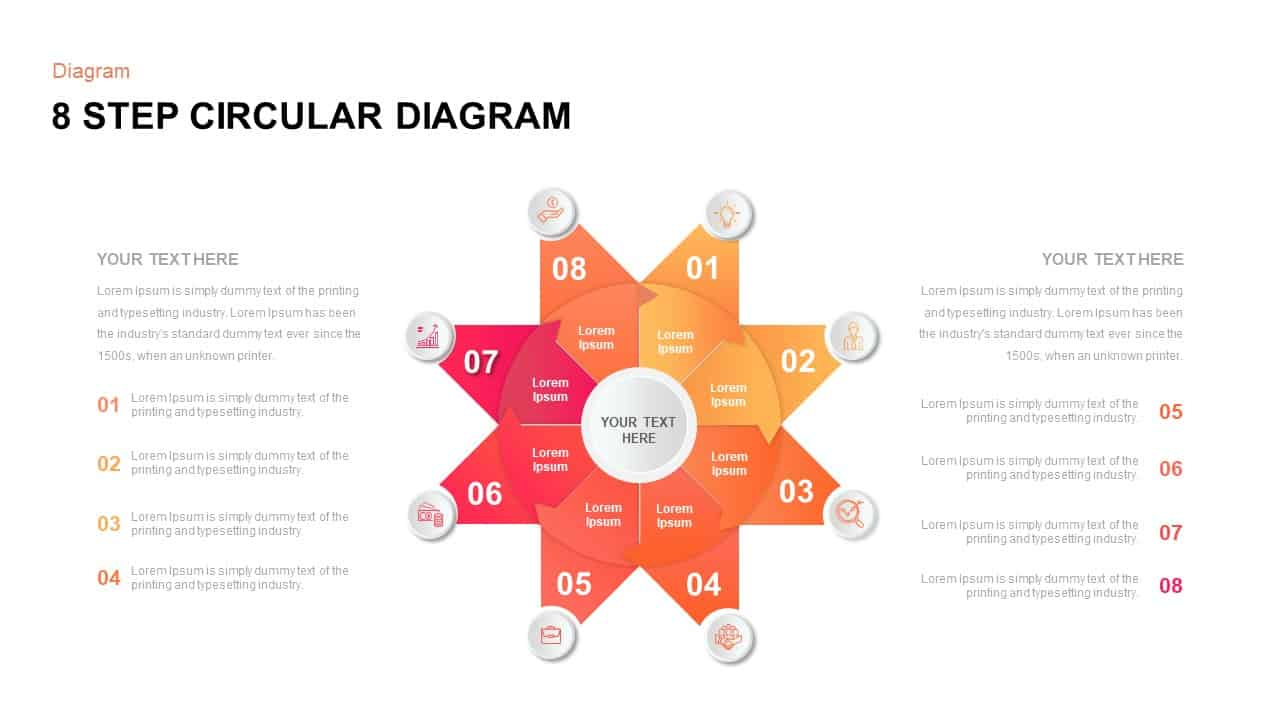 8 Step Circular Diagram Template
