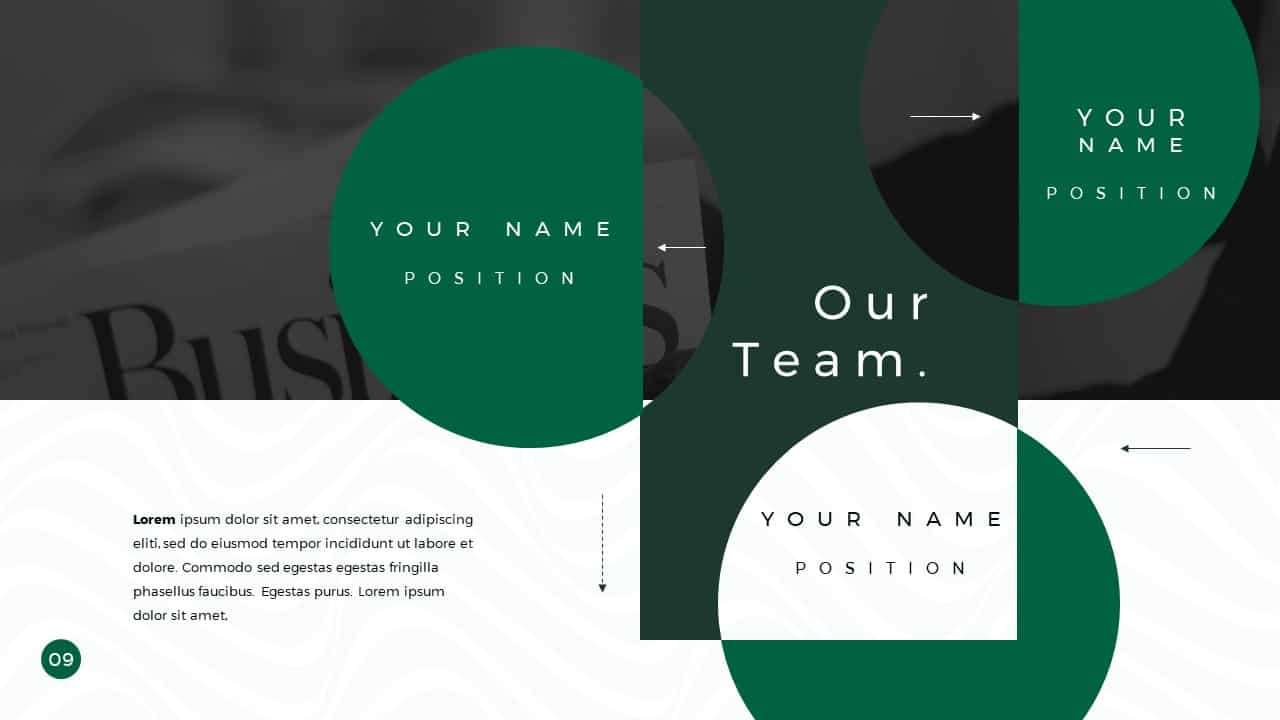 Business Presentation PowerPoint Template Our Team