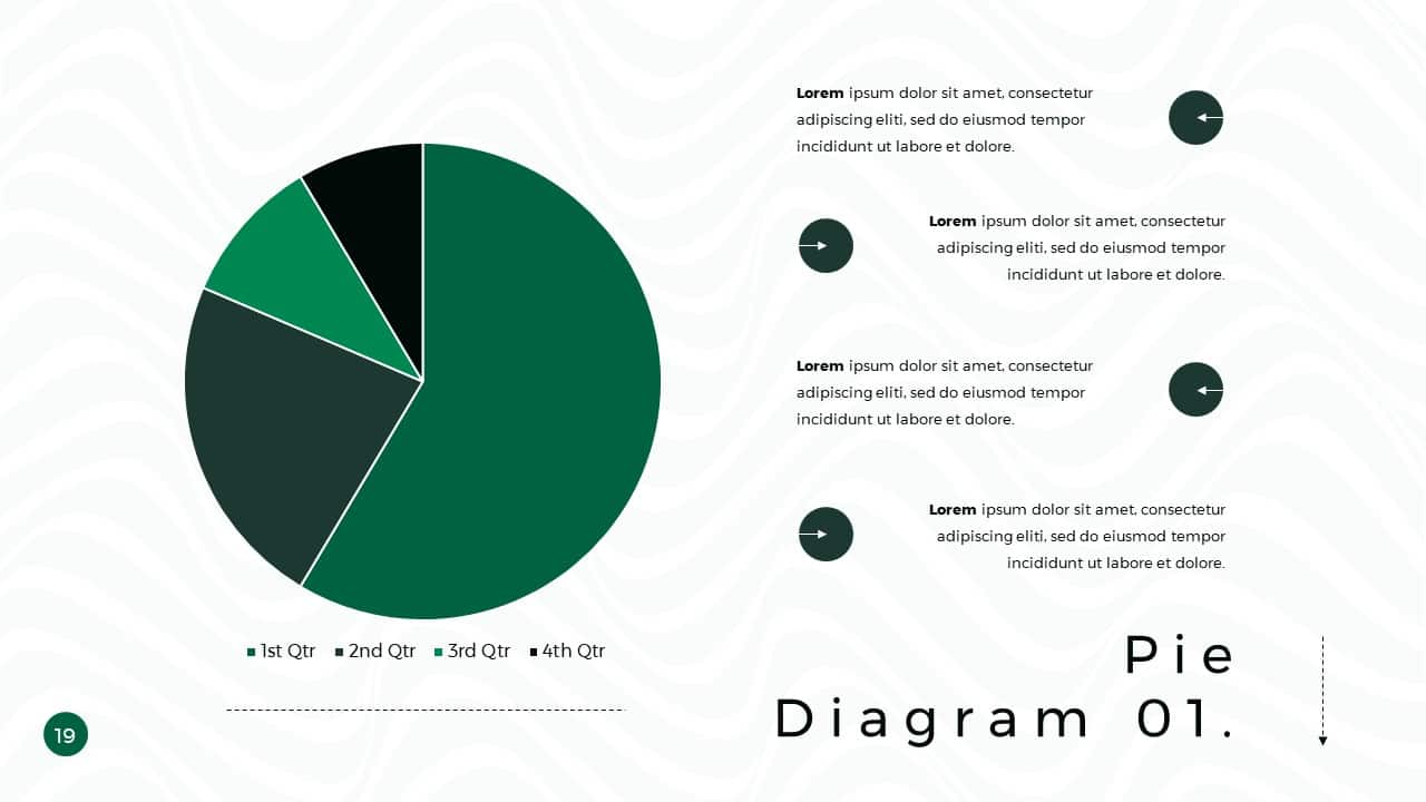 Business Presentation PowerPoint Template Pie Diagram