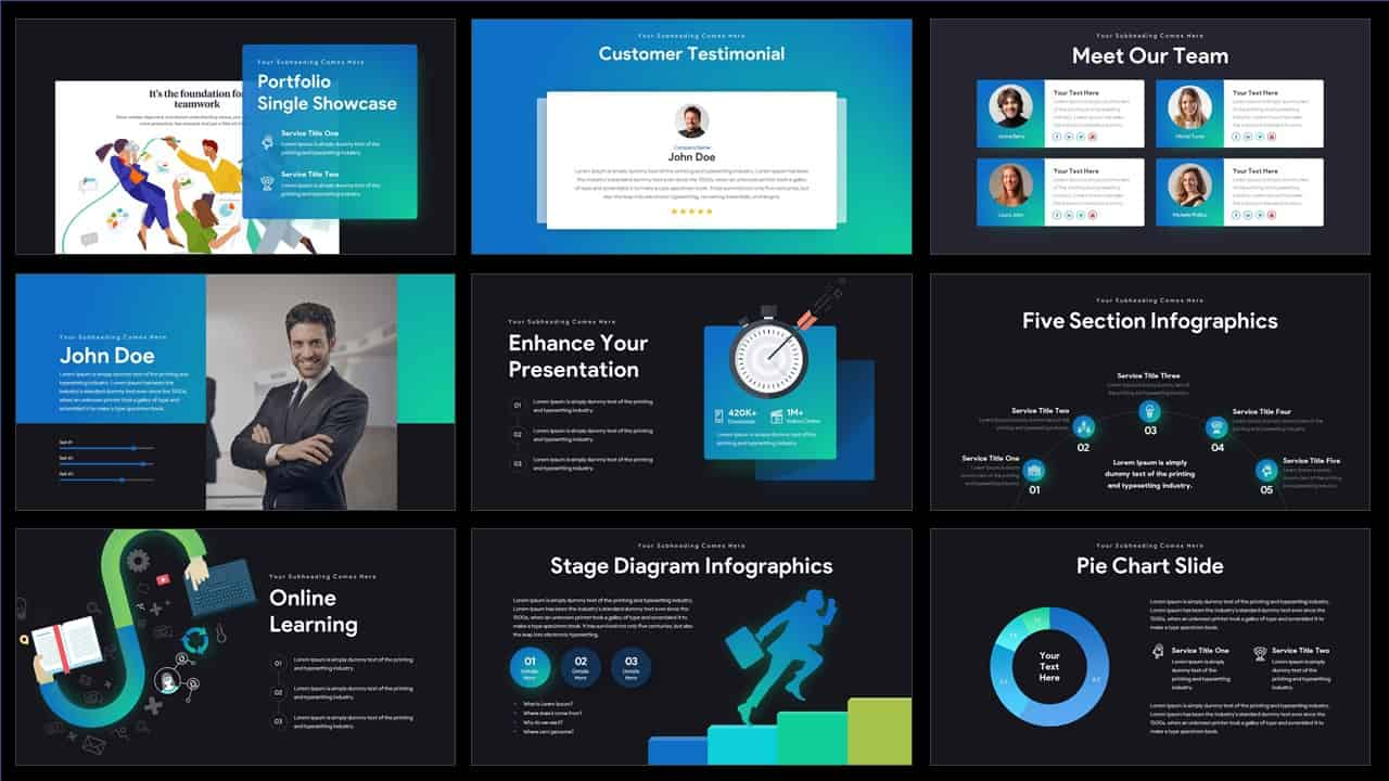 Download pitch deck ppt template