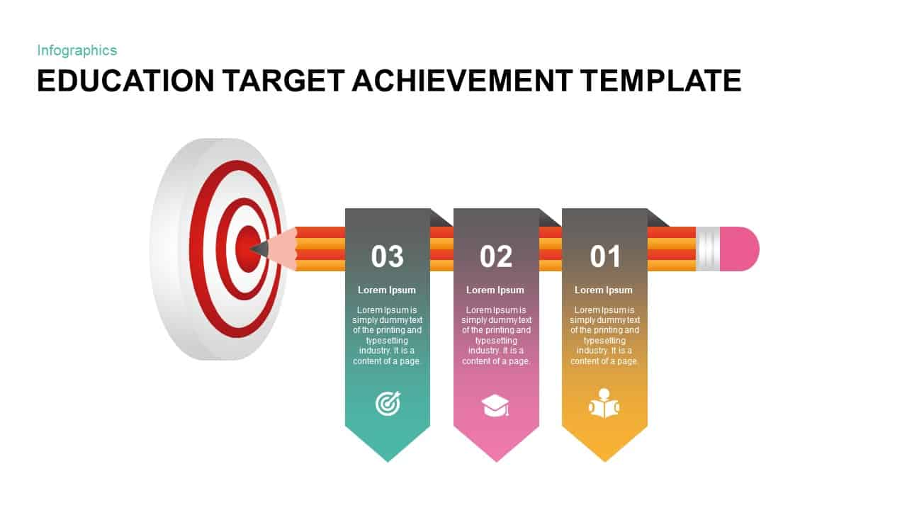 Education Target Achievement Template for PowerPoint