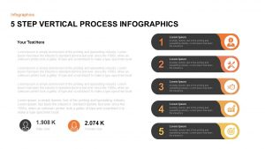 5 Step Infographic Vertical Process Template for PowerPoint