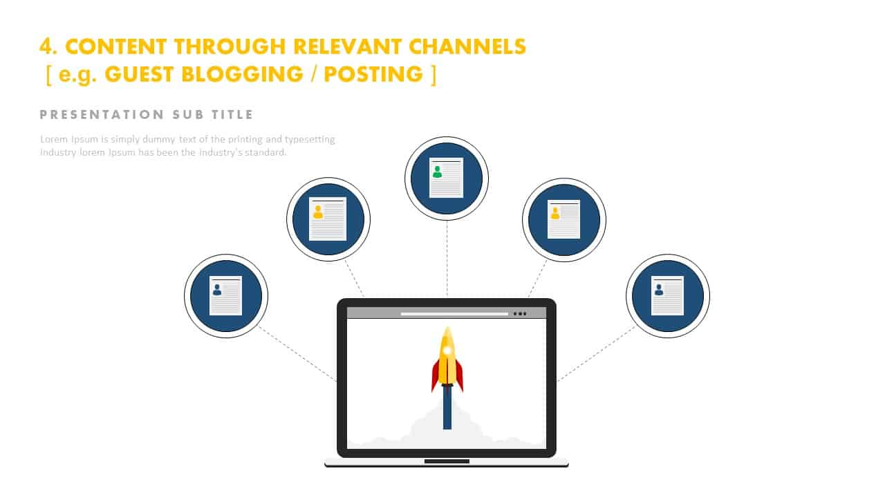 Content through relevant channels ppt template PowerPoint