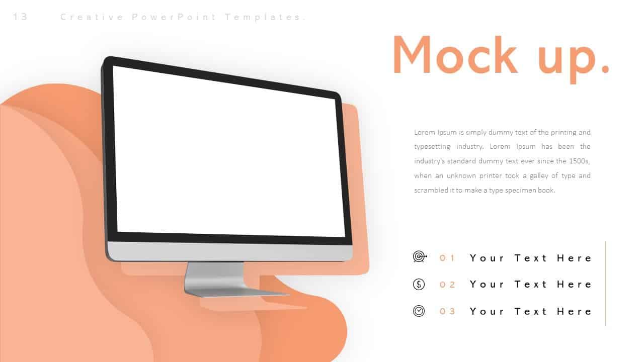 Creative Mockup PowerPoint Templates for Desktop Computer
