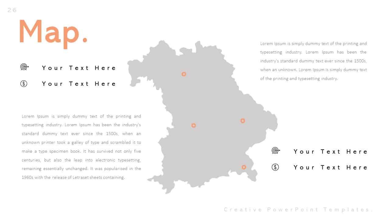 Creative PowerPoint Templates Map Presentation