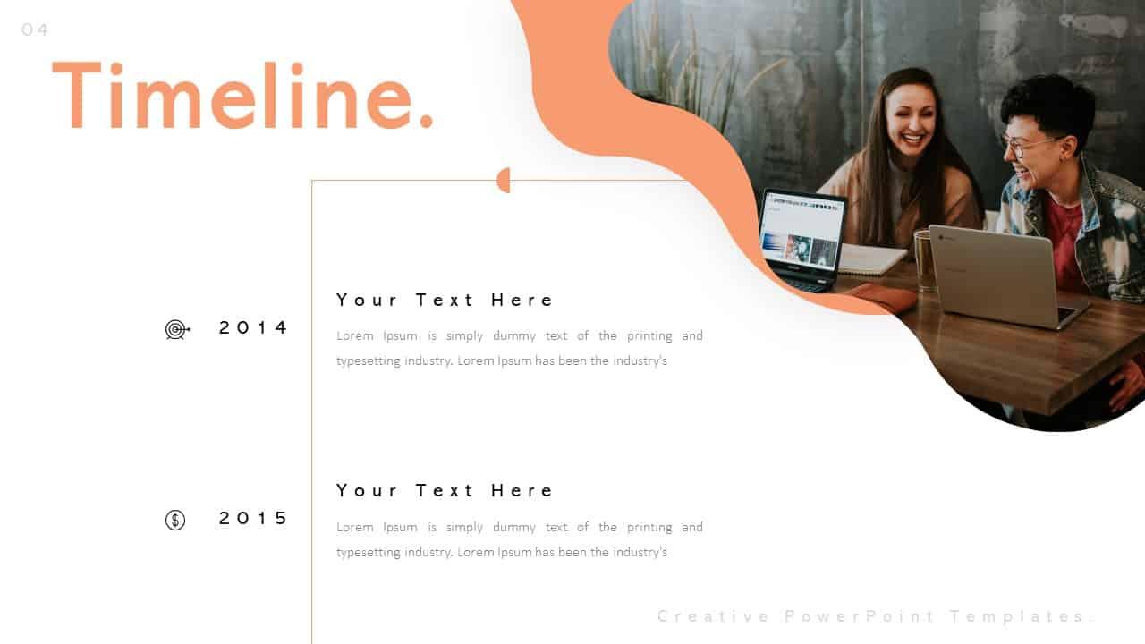 Creative Timeline PowerPoint Templates