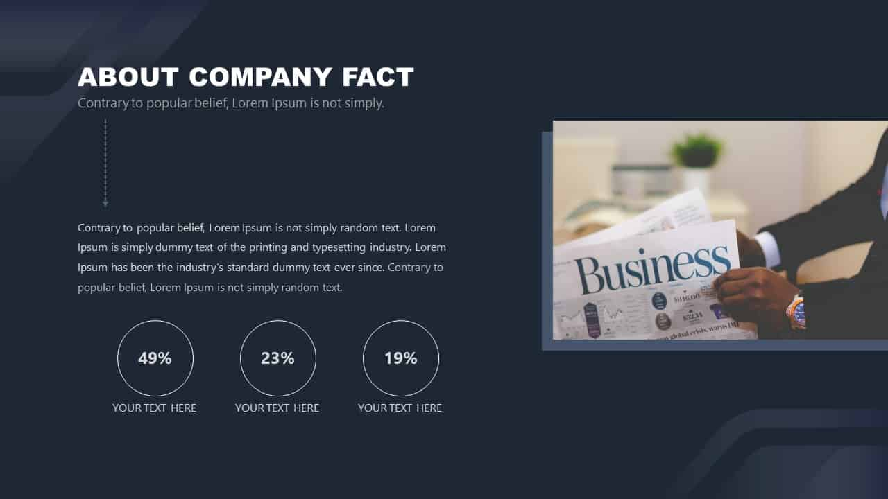 Free Corporate PowerPoint Template Design About Company Fact