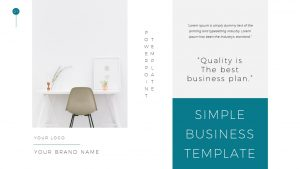 Simple Business Deck Templates for PowerPoint Presentation