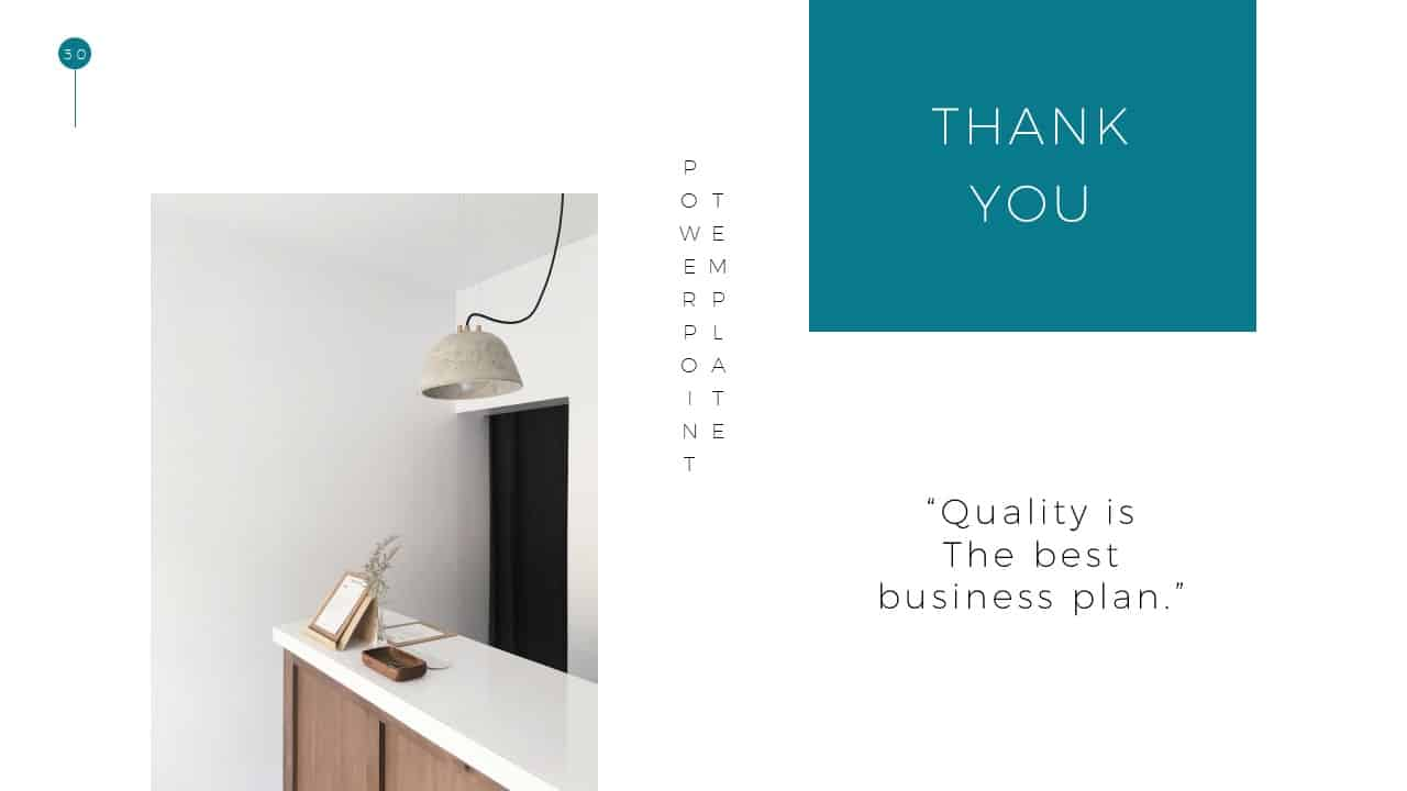 Simple Business Deck Templates for Saying Thank you