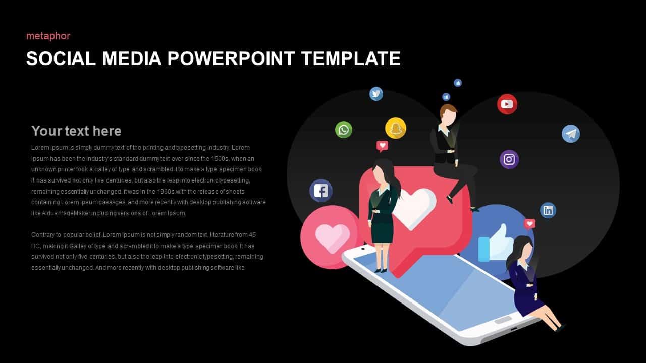 Social Media Template for PowerPoint Presentation