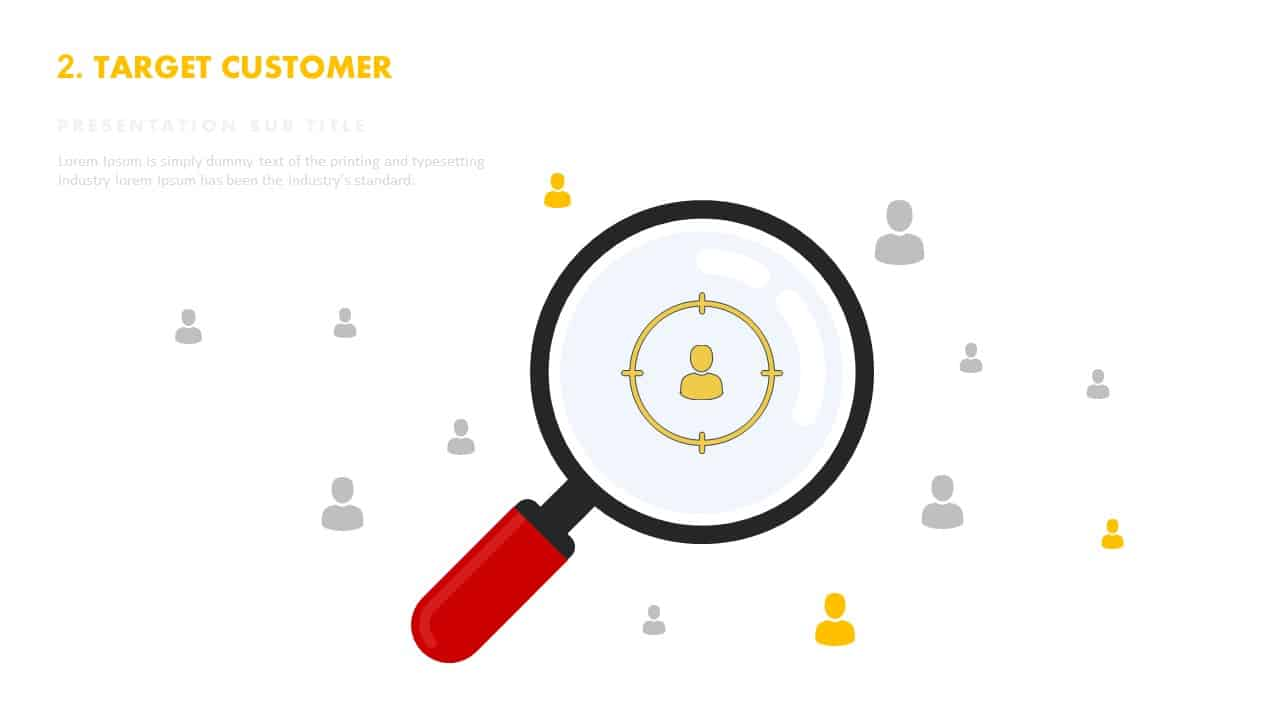 Target customer template for PowerPoint