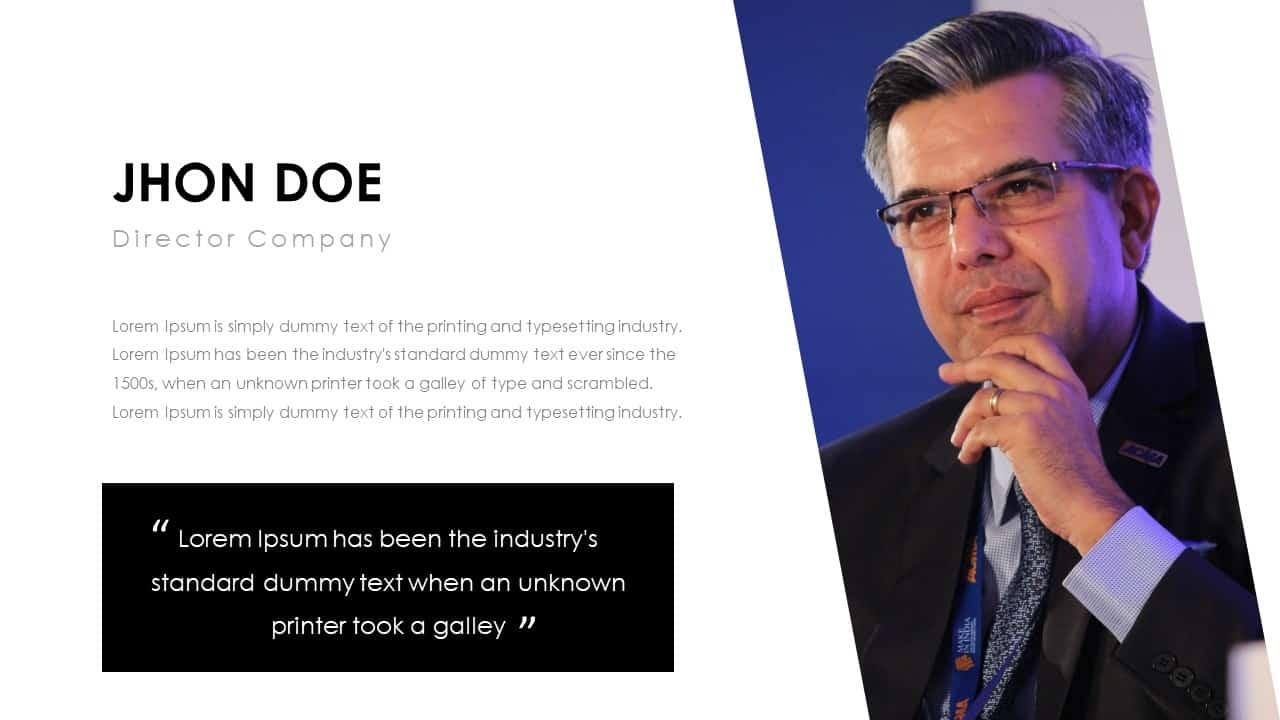 Business PowerPoint Presentation Template John Doe