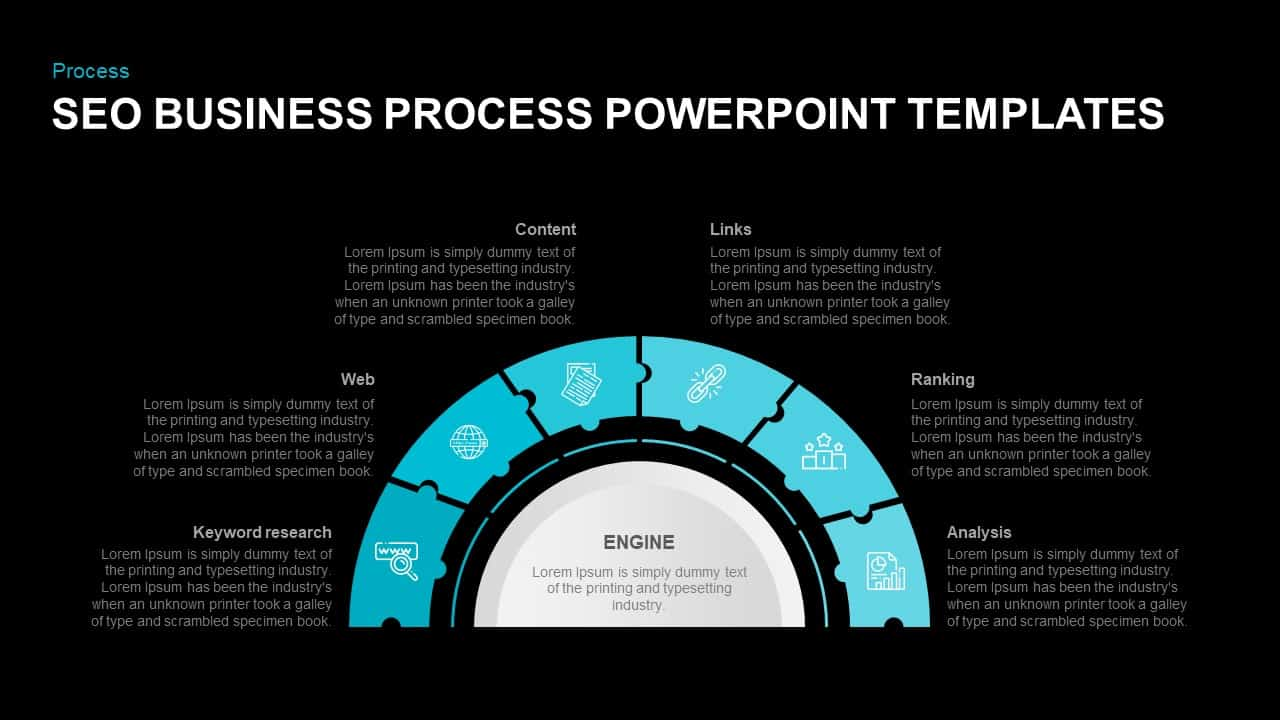 SEO Business Process Template for PowerPoint Presentation
