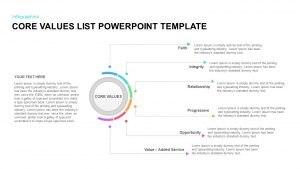 Core Values List PowerPoint Template