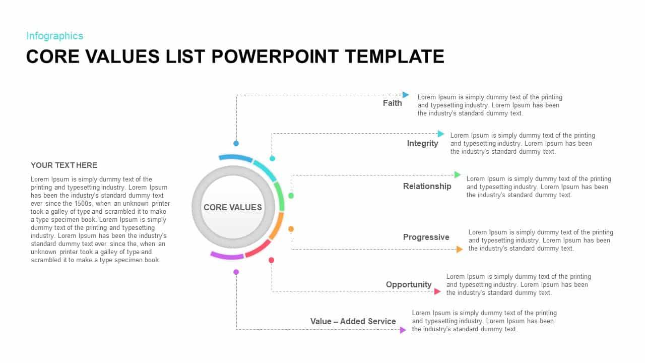 core values list powerpoint template