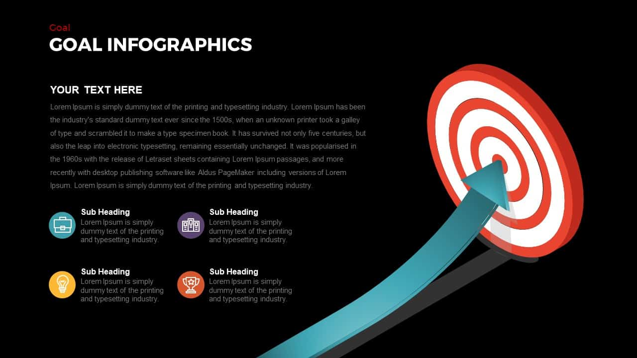 Goals Infographic Template For Business Presentation