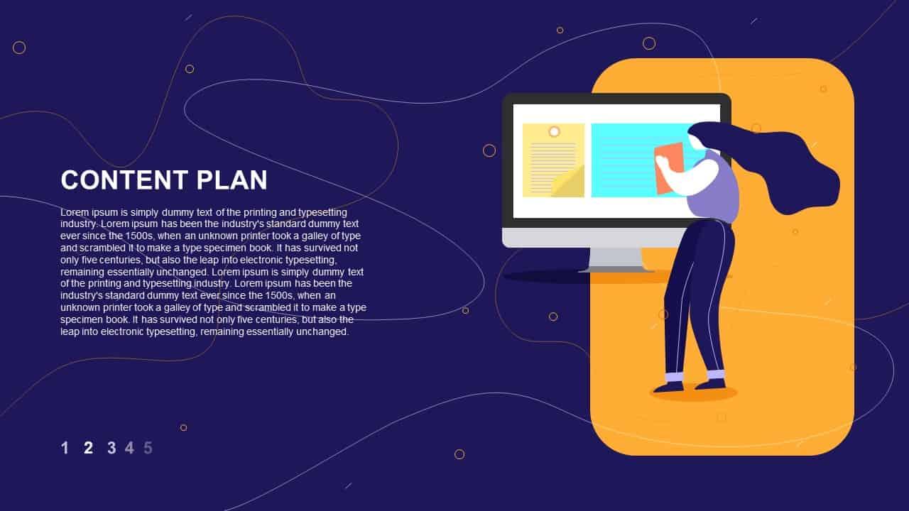 website promotion strategy PowerPoint deck Content Plan