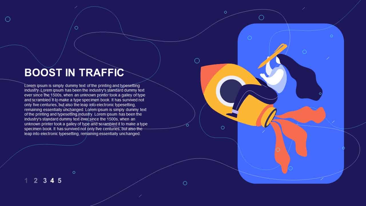 website promotion strategy PowerPoint deck boost in traffic