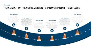 Achievement With Road Map PowerPoint Layout