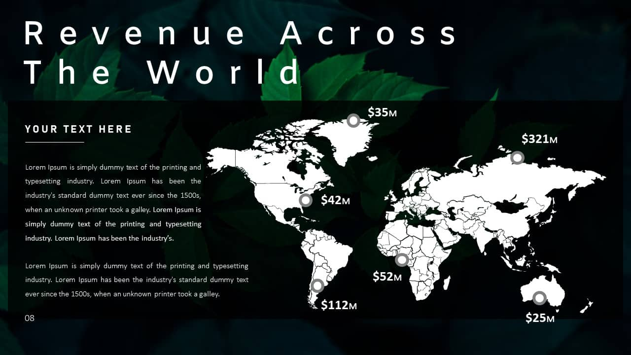 Annual Report Ppt Template World Revenue