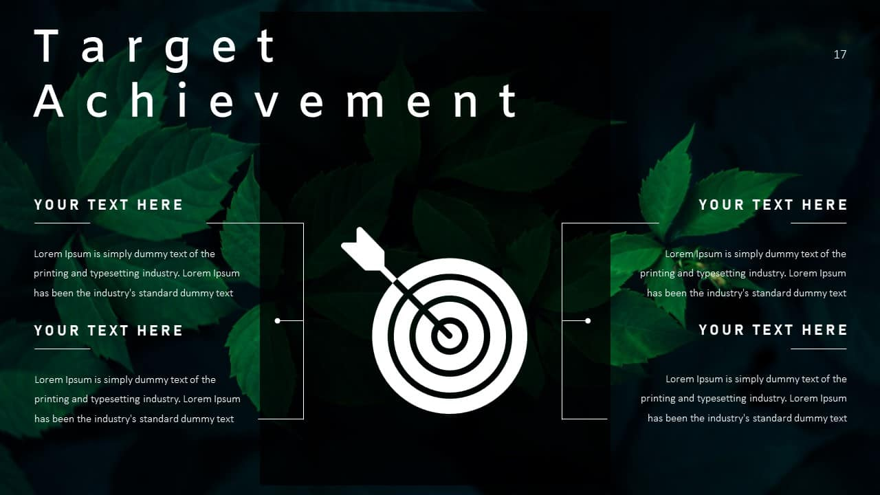 Annual Report Ppt Template Target Achievement