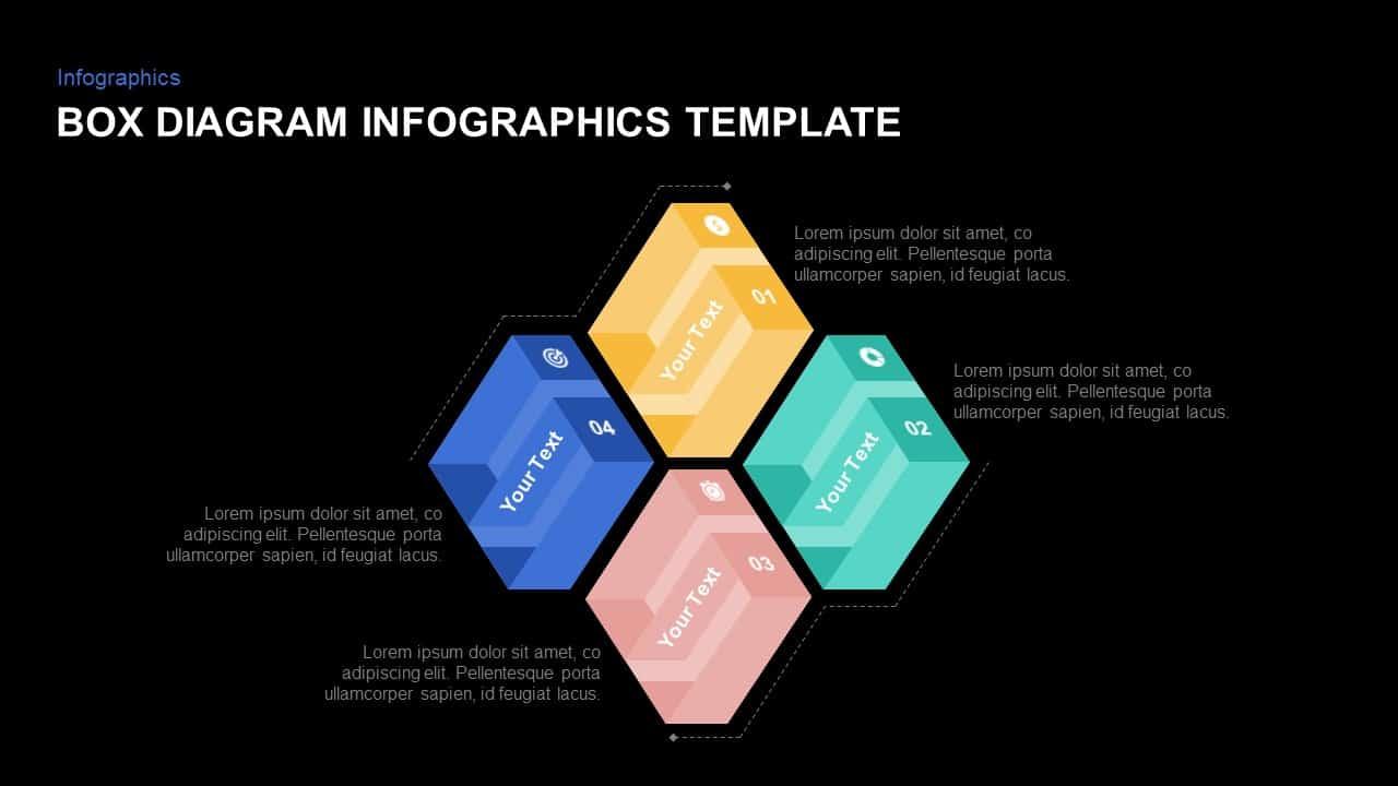 4 Box Diagram PowerPoint Template