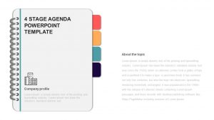 4 Steps Agenda Slide PowerPoint Template