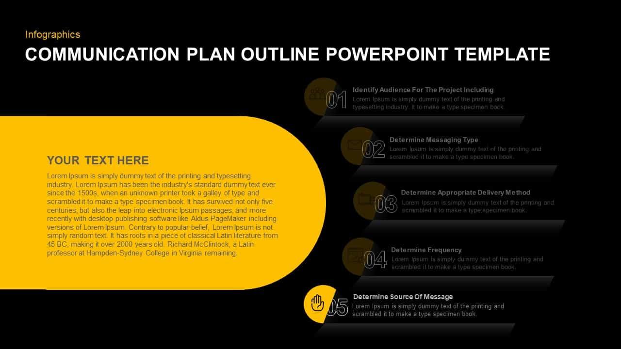 Communication Plan PowerPoint Diagram